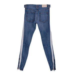 Anthropologie GOLDEN Tuxedo Stripe Skinny Jeans